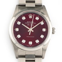 Rolex Air King Precision Steel 34mm Red No numerals