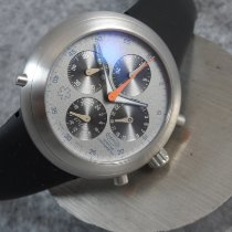 Ikepod Steel 44mm Chronograph Ikepod Hemipode GMT Wallpaper Chronograph pre-owned