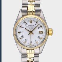 Rolex Oyster Perpetual Lady Date Acier 26mm Blanc Sans chiffres Belgique, Antwerpen