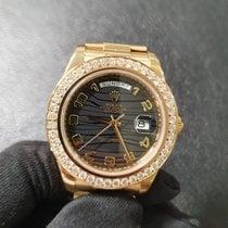 Rolex Oro amarillo Automático Negro 41mm usados Day-Date II