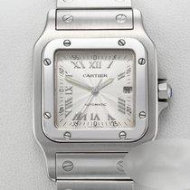 Cartier Santos (submodel) gebraucht 29mm Champagnerfarben Datum Stahl