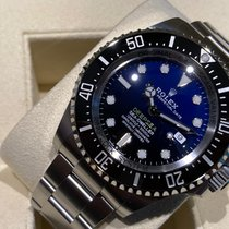 勞力士 Sea-Dweller Deepsea 鋼 44mm 藍色 無數字