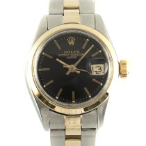 Rolex Oyster Perpetual Lady Date Gold/Steel 26mm Black