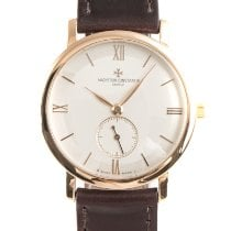 Vacheron Constantin Red gold Manual winding Silver 35mm pre-owned Patrimony
