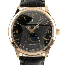 Jaeger-LeCoultre Yellow gold Automatic Black 37mm pre-owned Master Calendar