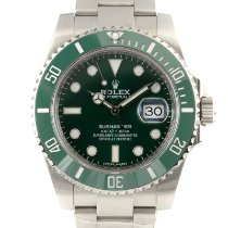 Rolex Submariner Date Stal 40mm Zielony