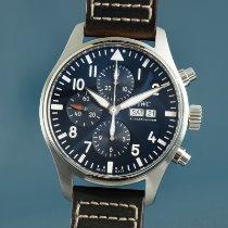IWC Fliegeruhr Chronograph Stahl 43mm Blau