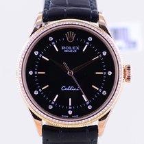 Rolex Cellini Time Roségoud 39mm Zwart Geen cijfers