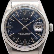 Rolex Oyster Perpetual Date Сталь 34mm Синий Без цифр