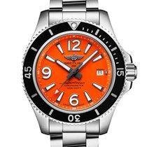 Breitling Superocean 42 Steel 42mm Orange Arabic numerals