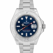Rolex Steel Automatic Blue 40mm pre-owned Yacht-Master 40