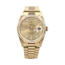 Rolex Day-Date 36 occasion 36mm Champagne Date Affichage des jours Or jaune