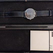 NOMOS Metro 38 Datum pre-owned 38.5mm Black Date Leather