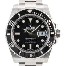 Rolex Steel Automatic Black No numerals 40mm new Submariner Date