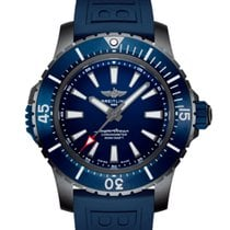 Breitling Titanium Automatic Blue No numerals 48mm new Superocean