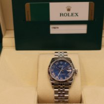 Rolex Lady-Datejust Oro blanco 31mm Azul