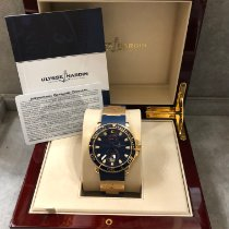 Ulysse Nardin Yellow gold Automatic Blue No numerals 43mm pre-owned Maxi Marine Diver