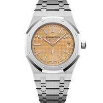 Audemars Piguet Royal Oak Jumbo Oro blanco 39mm Rosa Sin cifras