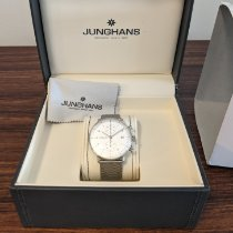 Junghans max bill Chronoscope Steel 40mm Silver Arabic numerals United States of America, New Jersey, Jersey City