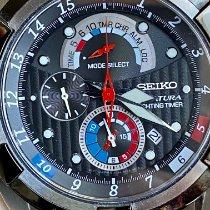 Seiko Velatura Chronograph Steel 43,5mm Blue