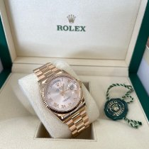 Rolex Day-Date 36 Rose gold 36mm Silver Roman numerals United States of America, New Jersey, Totowa