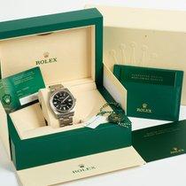 Rolex Oyster Perpetual Acier 41mm Noir Sans chiffres