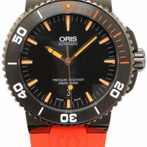 Oris Steel Automatic Black Arabic numerals 44mm new Aquis Date
