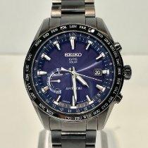 Seiko Tántalo Azul Sin cifras 45mm nuevo Astron GPS Solar Chronograph