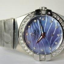 Omega Constellation Quartz Steel 24mm Blue Malaysia