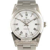 Rolex Air King Precision Staal 34mm Wit