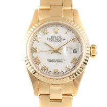 Rolex Lady-Datejust Желтое золото 26mm Белый