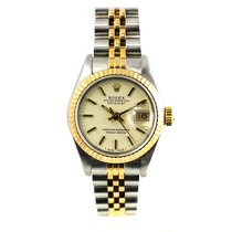 Rolex Lady-Datejust Staal 26mm Wit Geen cijfers