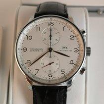 IWC Portuguese Chronograph Stål Vit Arabiska