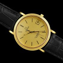 Omega Constellation Quartz pre-owned 34.5mm Champagne Leather