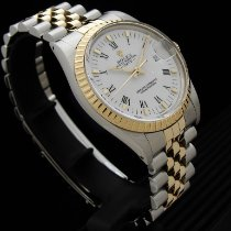 Rolex Oyster Perpetual Date Золото/Cталь 34mm Белый Римские