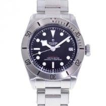 Tudor Steel Automatic Black 41mm pre-owned Black Bay Steel