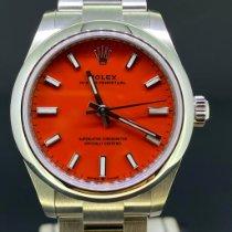 Rolex Oyster Perpetual 31 Acier 31mm Rouge Sans chiffres Belgique, Antwerpen