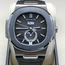 Patek Philippe Nautilus Steel 40.5mm Black No numerals