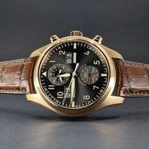 IWC Pilot Spitfire Perpetual Calendar Digital Date-Month Złoto różowe 46mm Czarny