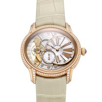 Audemars Piguet Millenary Ladies pre-owned 35.4mm White Leather