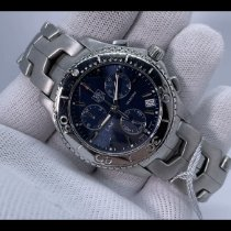TAG Heuer Link Quartz pre-owned 42mm Blue Chronograph Date Steel