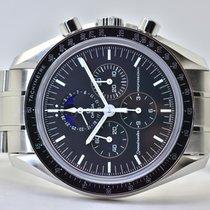 Omega Speedmaster Professional Moonwatch Moonphase Stahl 42mm Schwarz Keine Ziffern Deutschland, Iffezheim
