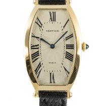 Cartier Gelbgold Handaufzug 39mm gebraucht Tonneau