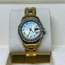 Rolex Lady-Datejust Pearlmaster Yellow gold 29mm Mother of pearl Roman numerals