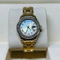 Rolex Lady-Datejust Pearlmaster Желтое золото 29mm Перламутровый Римские