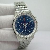 Breitling Montbrillant 01 Сталь Синий