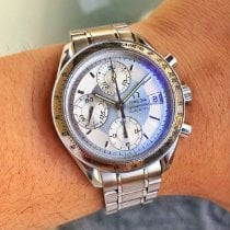 Omega Speedmaster Date Steel 39mm Silver No numerals United States of America, Georgia, Atlanta