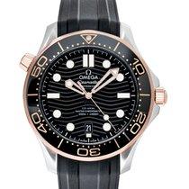 Omega Seamaster Diver 300 M Rose gold 42mm Black