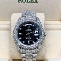 Rolex (ロレックス) デイデイト II 新品 2014 自動巻き 正規のボックスと正規の書類付属の時計 218349
