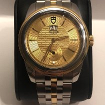 Tudor Glamour Double Date pre-owned 42mm Champagne Date Gold/Steel